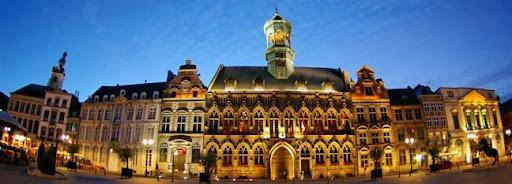 Bruselas Valonia: vista nocturna
