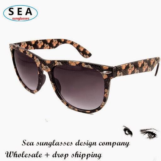 SEA Brand design Printed sunglasses women gafas oculos
