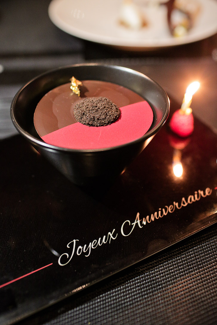 Birthday Chocolate Cake - LAtelier - Fine Dining Las Vegas.