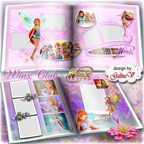 Cartoon Photobook for Girls - Winx Club