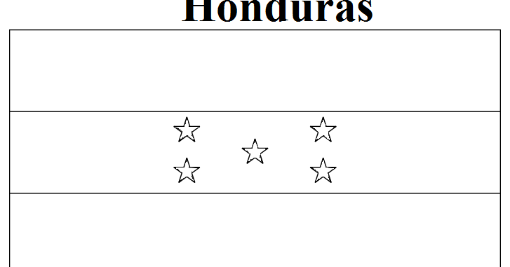 Geography Blog Honduras Flag Coloring Page