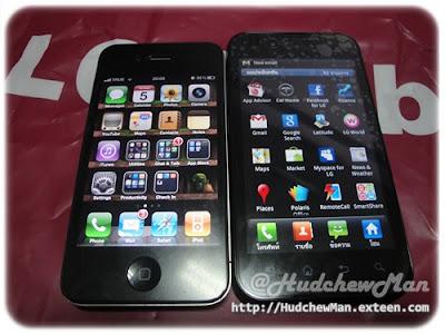LG Optimus Black vs iPhone 4