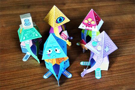 Praying Paper Toys