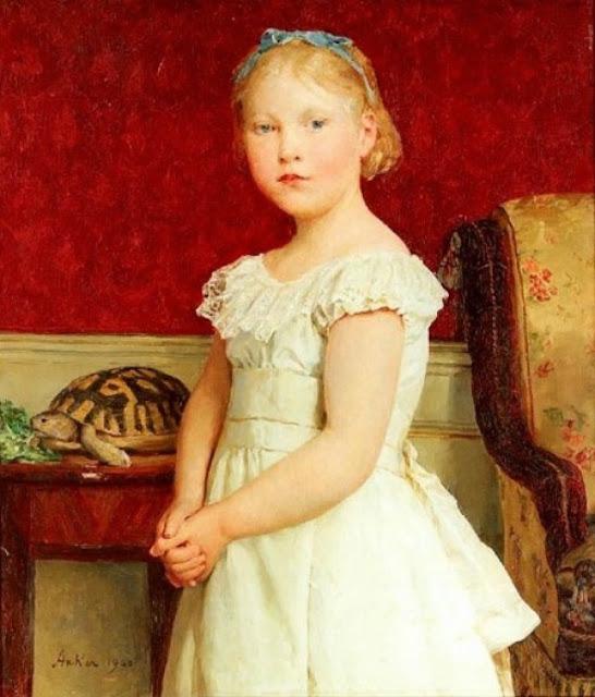 Albert Anker - Bildnis Dora Luthy, 1900