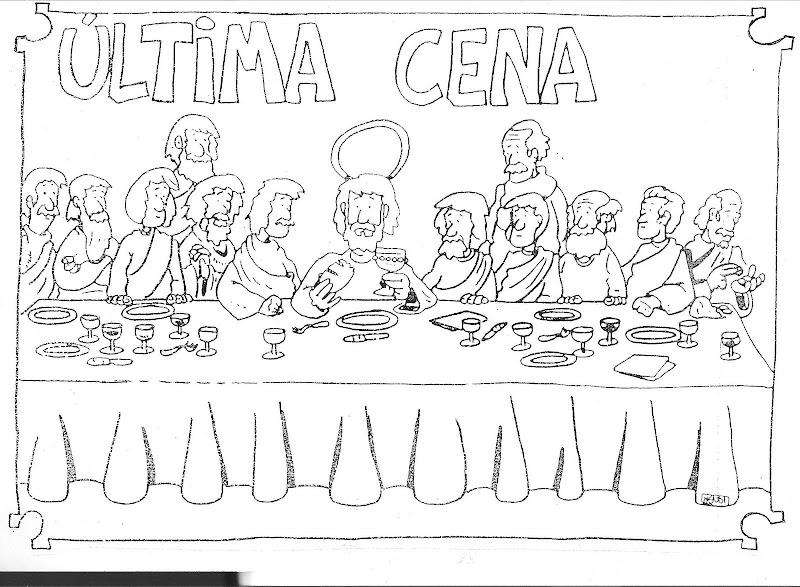 Dibujos última cena para colorear