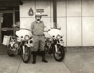 Motorcycles nt police museum dennis scrutton graham rees and robert bob crasher crowell behind a 750cc honda police special motorcycle thecheapjerseys Choice Image