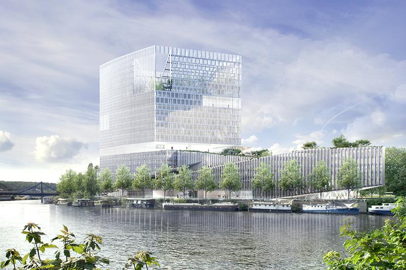 Immeuble de bureaux ZAC Seguin – Boulogne Billancourt/ ECDM Architects'