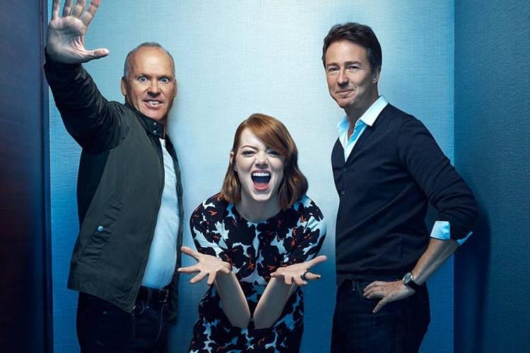 Michael Keaton, Edward Norton y Emma Stone protagonizan