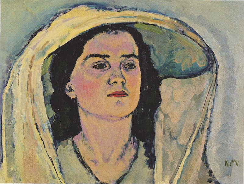 Koloman Moser - Study of Portrait of Venus in the Grotto, 1914