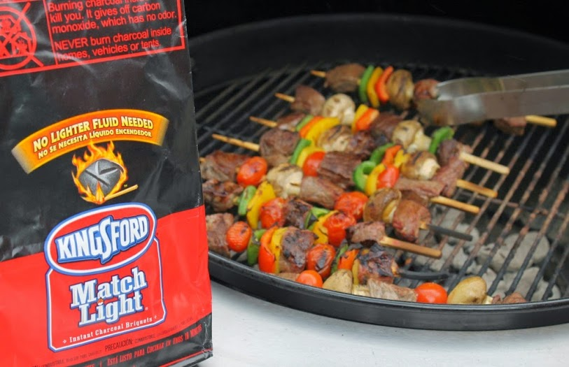 Grilled Steak Kabobs with Kingsford Charcoal