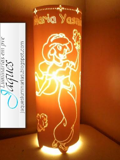 luminaria-em-pvc-princesa-Jasmine