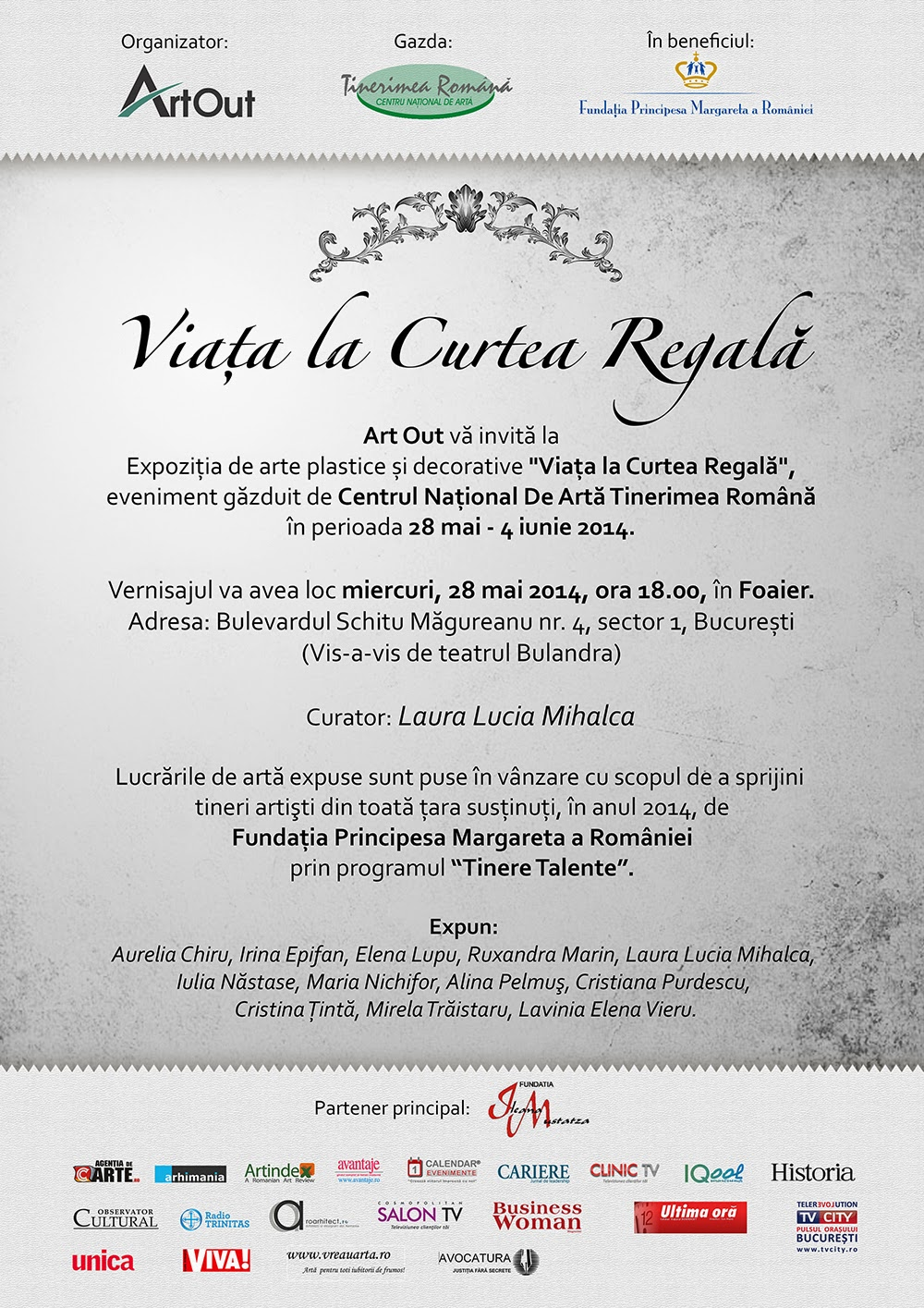Expoziție de arte plastice în beneficiul programului Tinere Talente al Fundației Principesa Margareta a României