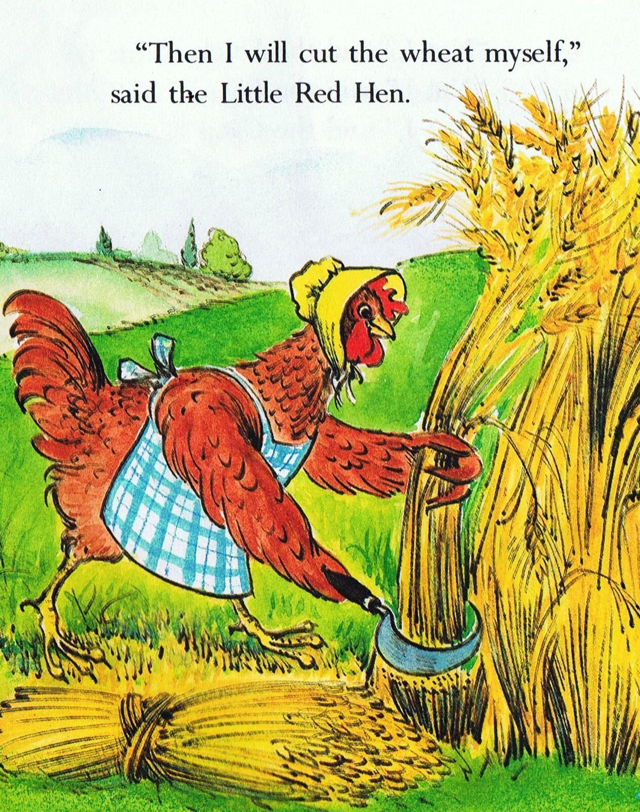 what is the moral lesson of the story of the little red hen