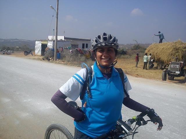 Manjula, after the climb
