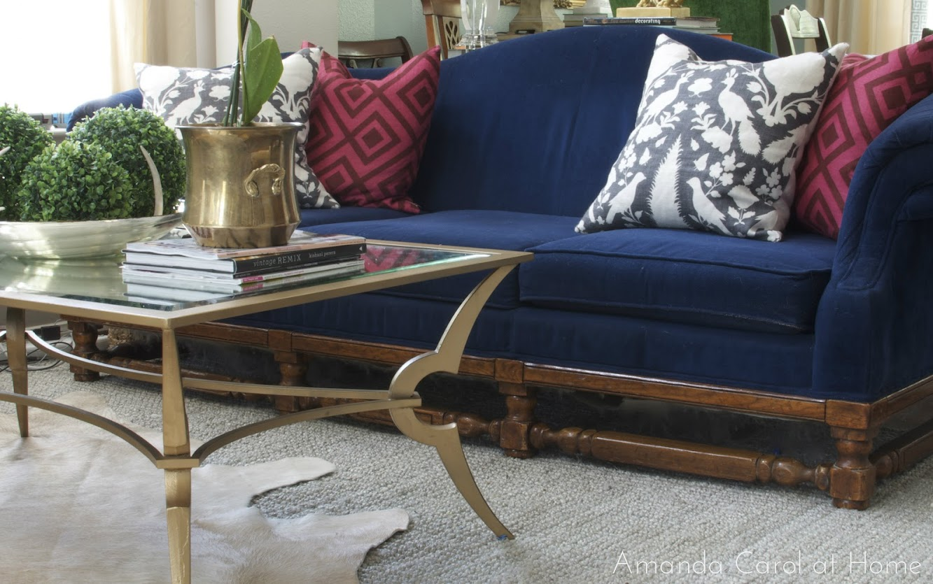 Cobalt Blue Sofa