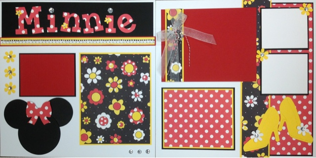Mom And Me Scrapbooking Minnie Mouse
