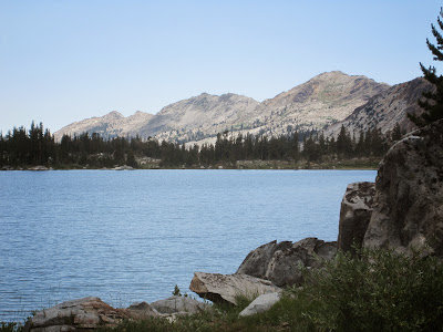 From the shore of Dorothy Lake, where we pumped water. ©http://backpackthesierra.com