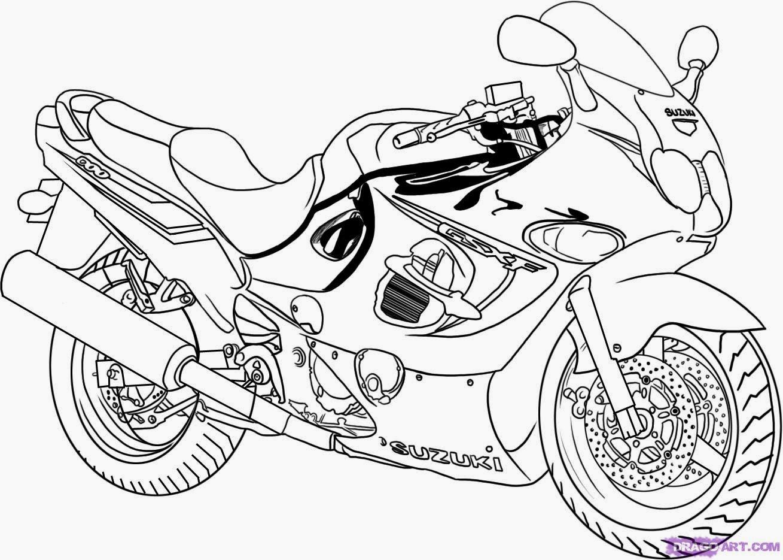 Dessin de moto a colorier - Coloriage de moto ...