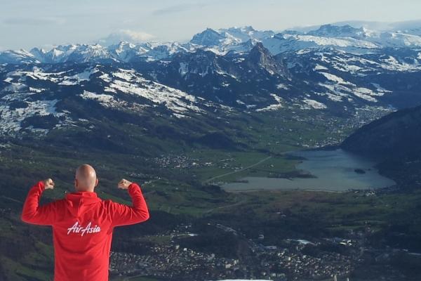 AirAsia Allstar Conquers the Swiss Alps