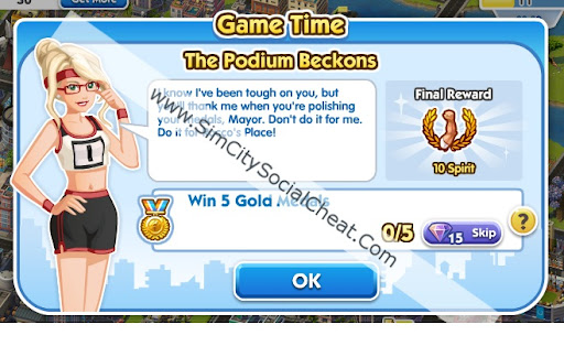 SimCity Social Time Quest Podium Beckons