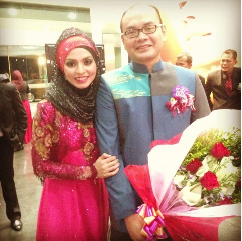 Adibah Karimah and Dr Hasbi at Diamond Night Awards at MIECC