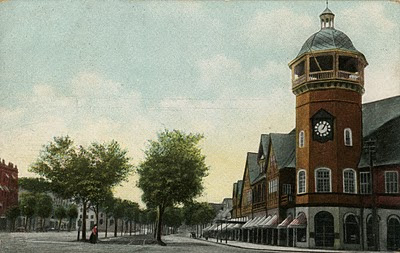 Beacon Street at Coolidge Corner as laid out by Henry Whitney and Frederick Law Olmsted