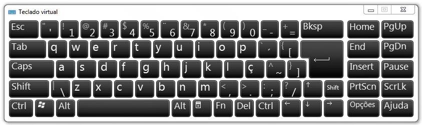 curso de digitação rápida - Teclado windows