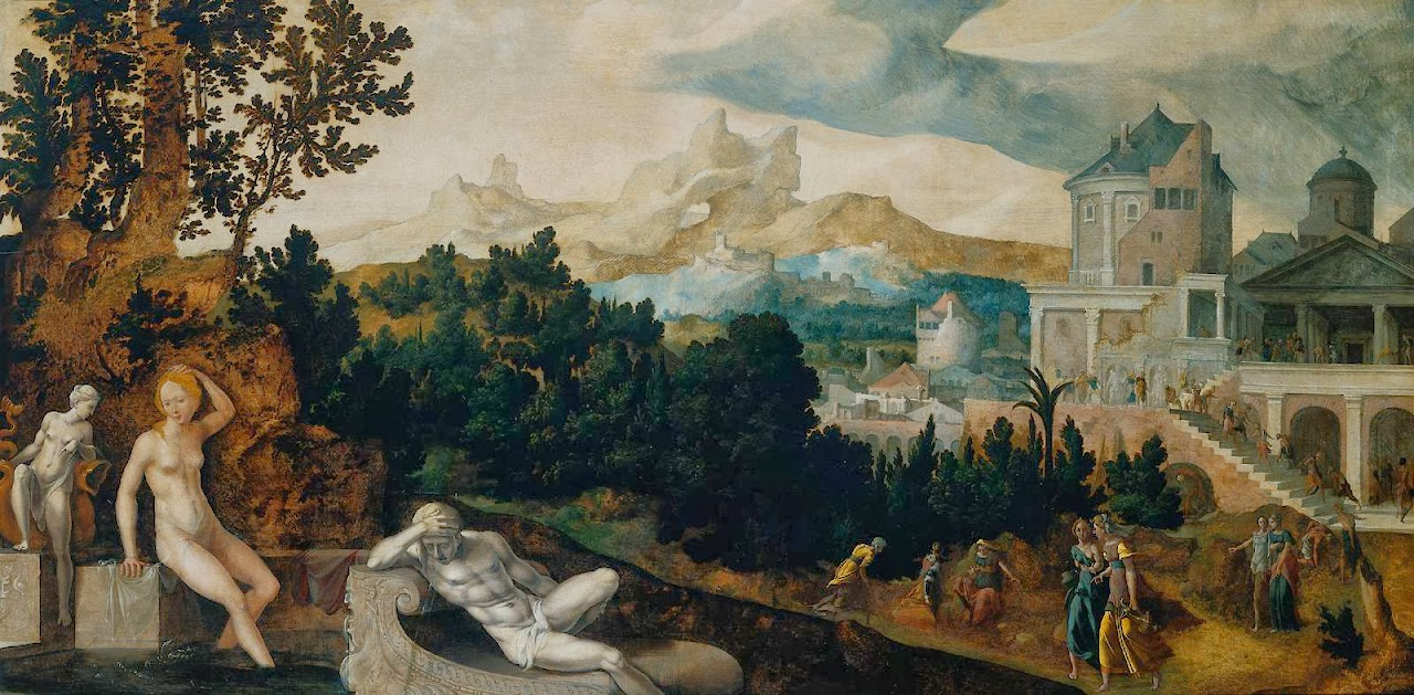 Jan van Scorel - Landscape with Bathsheba