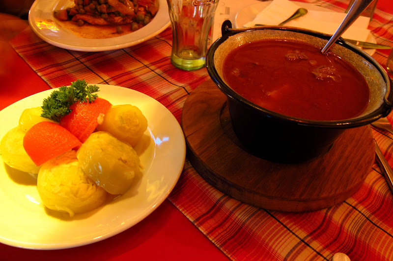 Goulash and pickled cabbage