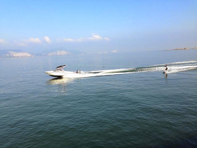 苅田港水上スキー3