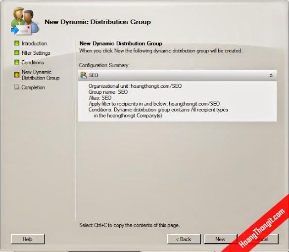 Quản lý Distribution Group trên Mail Exchange Server