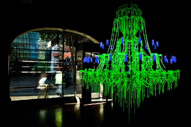 Radioactive Uranium Glass Sculptural Work by Ken + Julia Yonetani