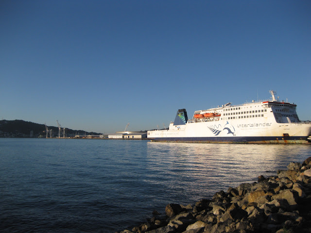 Interislander ferry in Wellington
