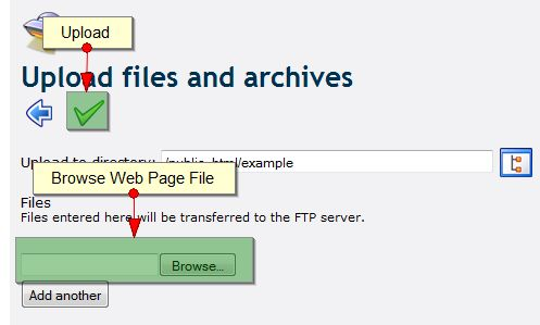 Using Web2FTP to browse files