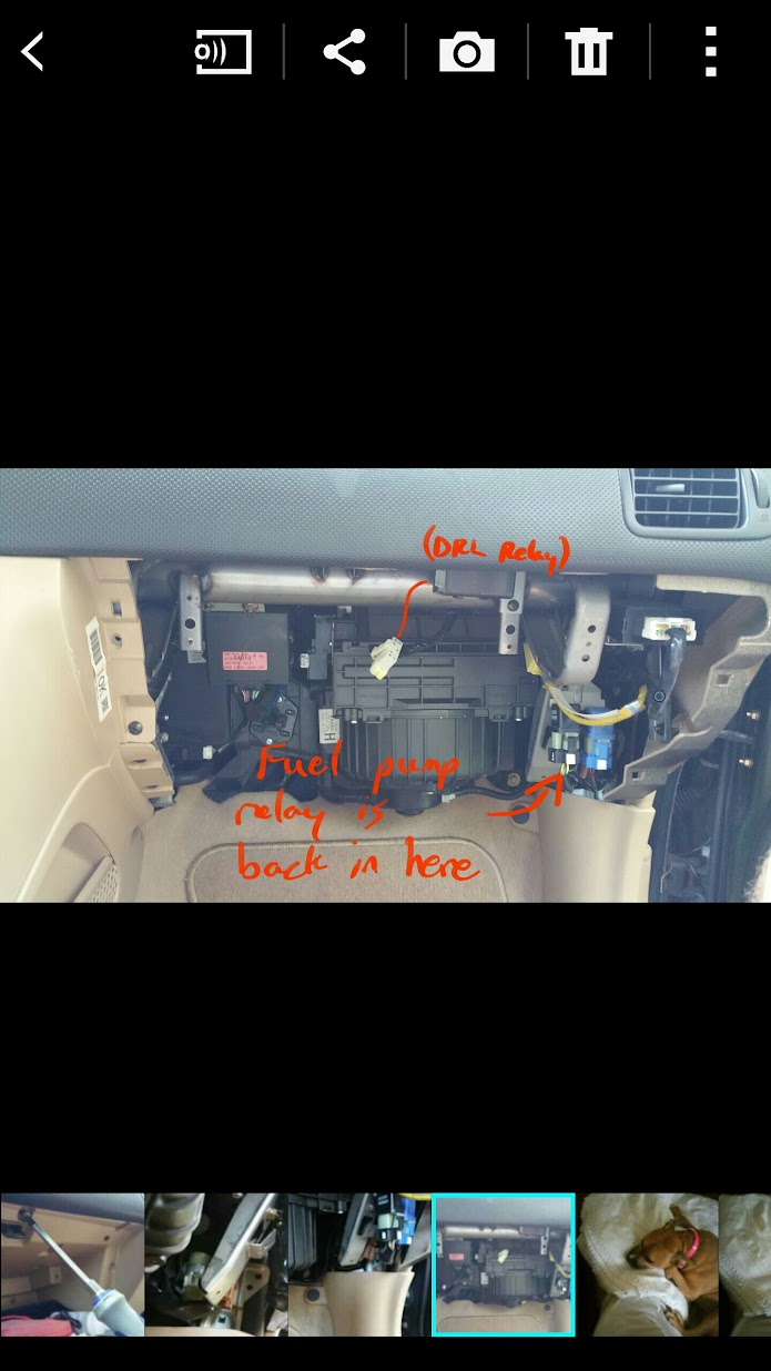 03 05 How To Replace Fuel Pump Relay Or Just Locate Unplug Wrx Filter From This Angle You Will More Clearly See A Brown And Then The Is White One Left Of