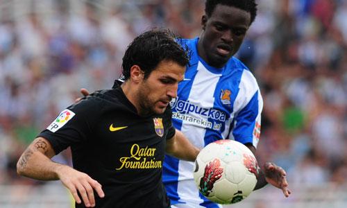 Cesc Fabregas, Real Sociedad - Barcelona