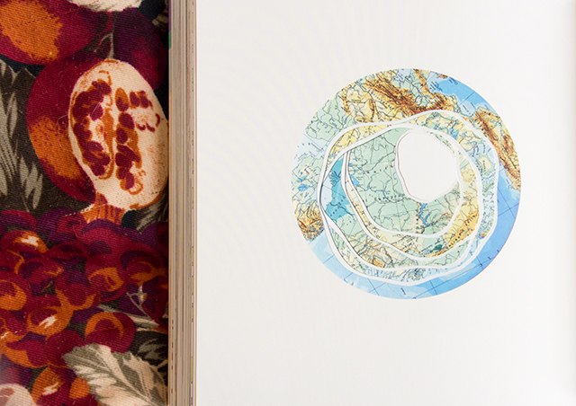 collaged world globe