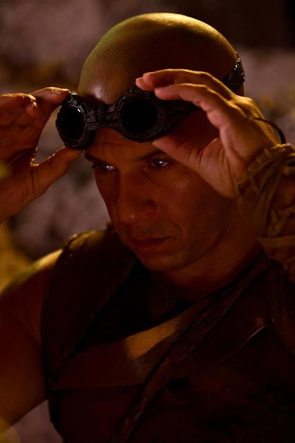 Riddick Vin Diesel goggles on