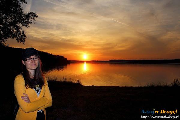 kaszuby jezioro wielewskie zachód słońca