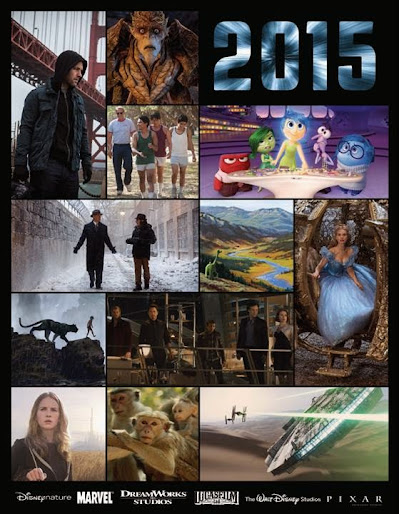 Disney Movies 2015! The Walt Disney Studios Motion Pictures Slate for 2015 has been released. Titles include Strange Magic, McFarland USA, Cinderella, Monkey Kingdom, Avengers: Age of Ultron, Tomorrowland, Inside Out, Ant-Man, The Jungle Book, The Good Dinosaur, Star Wars: The Force Awakens