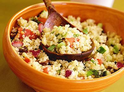 Tabulé de quinoa y fresas