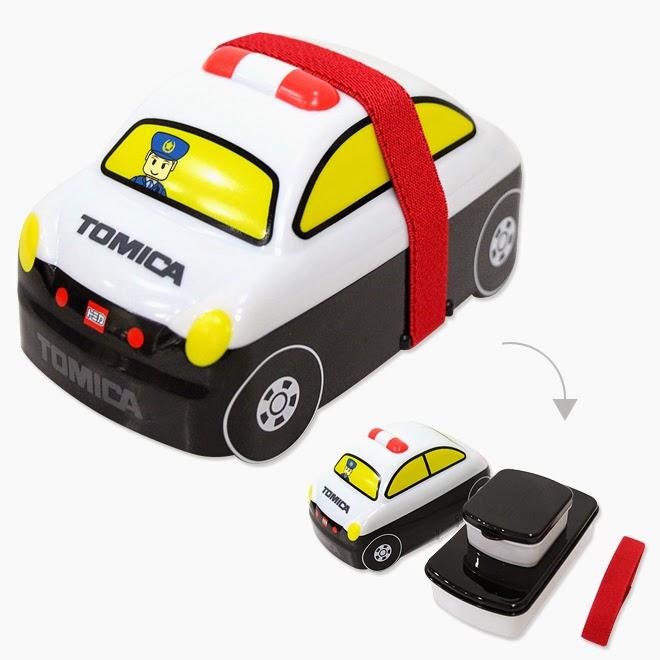 Hộp cơm hình xe cảnh sát Tomica có dây bảo vệ