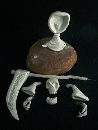 Escultura en masilla de Gregg The Grim Reaper