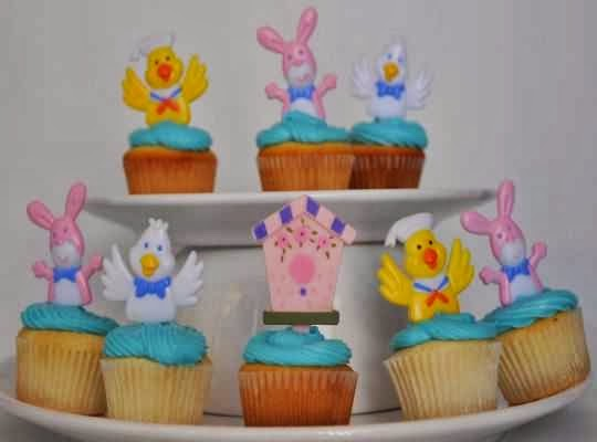Pastelitos como tema central de un baby shower