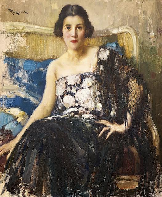 Fernand Toussaint - Portrait de femme