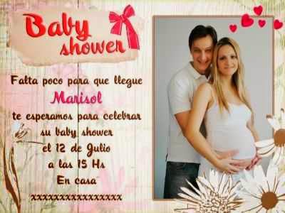 Realiza tus propias tarjetas de invitaciones para 1 baby shower