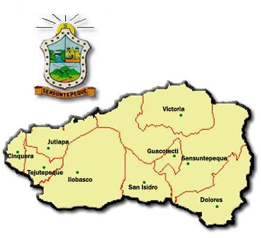 cabanas mapa Municipios de Cabañas   Municipios de El Salvador cabanas mapa