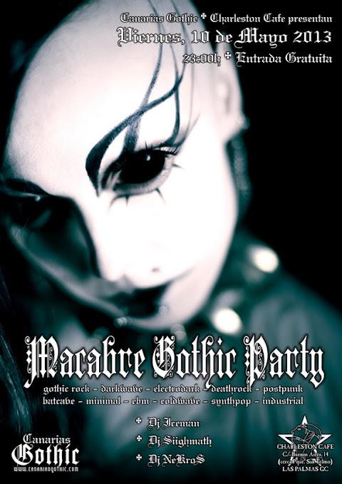 MACABRE GOTHIC PARTY  XIII Canarias+gothic+macabre+flyer