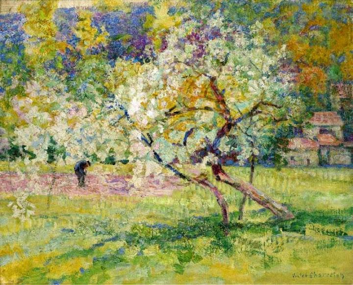 Victor Charreton - Blooming Trees