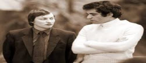 Dos de los más grandes jugadores de la historia: Karpov y Kasparov